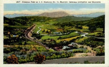Bozeman Pass - Montana MT Postcard