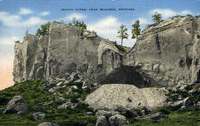 Indian Caves - Billings, Montana MT Postcard