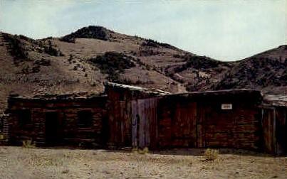 1st Jail in Montana - Bannack Postcard
