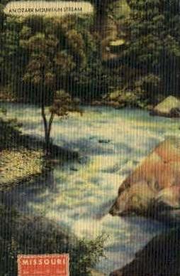An Ozark Mountain Stream - Misc, Montana MT Postcard