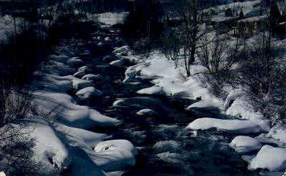 Winter along the Truckee River - Misc, Montana MT Postcard