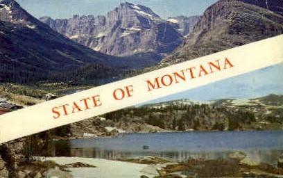 The Treasure State - Misc, Montana MT Postcard