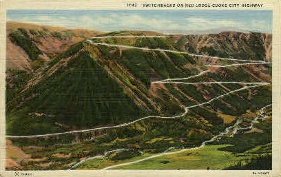 Red Lodge-Cooke City Highway - Misc, Montana MT Postcard