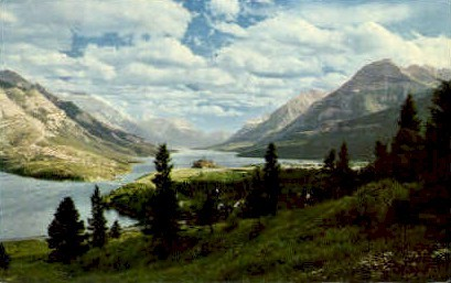 Waterton Lake - Misc, Montana MT Postcard