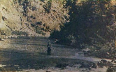 Fishermans Paradise  - Missoula, Montana MT Postcard