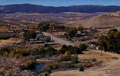 Montanas Oldest Town - Bannack Postcard