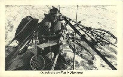 Overdosed on Fun in Montana - Misc Postcard