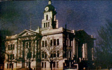 Court House - Missoula, Montana MT Postcard