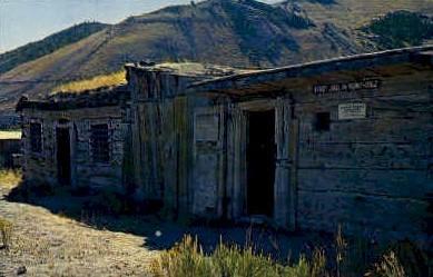 Montanas 1st Jail - Bannack Postcard