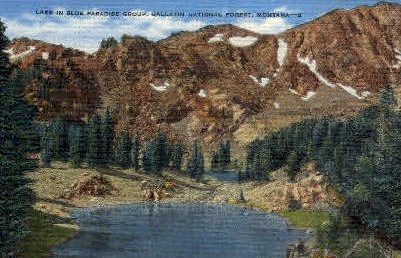 Lake in Blue Paradise Group - Gallatin National Forest, Montana MT Postcard