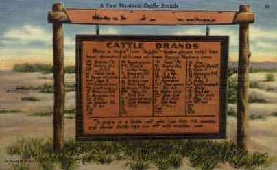 Montana Cattle Brands - Misc Postcard