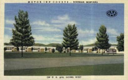 Motor Inn Courts - Bozeman, Montana MT Postcard