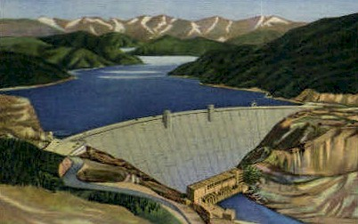 Hungry Horse Dam - Misc, Montana MT Postcard