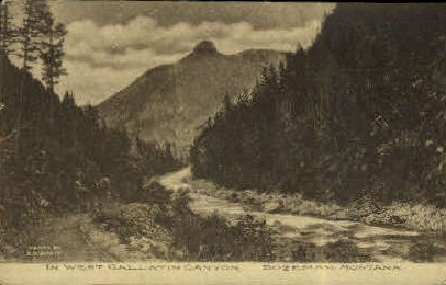 In West Gallatin Canyon - Bozeman, Montana MT Postcard