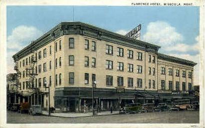 Florence Hotel - Missoula, Montana MT Postcard