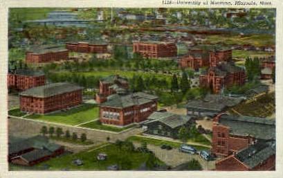 University of Montana   - Missoula Postcard
