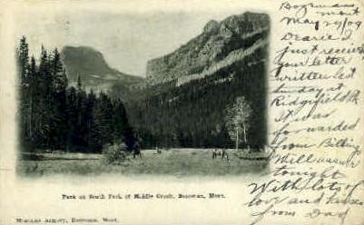 Park on South Fork of Middle Creek - Bozeman, Montana MT Postcard