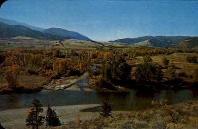Travellers Rest Creek, Lolo - Missoula, Montana MT Postcard