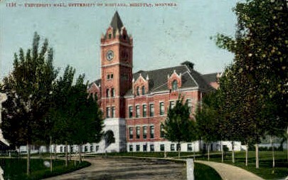 University Hall, University of Montana - Missoula Postcard