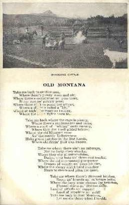 Branding Cattle & Old Montana - Misc Postcard