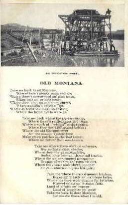 An Irrigation Wheel & Old Montana - Misc Postcard