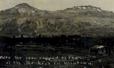 Real Photo- Rocky Mountains - Misc, Montana MT Postcard
