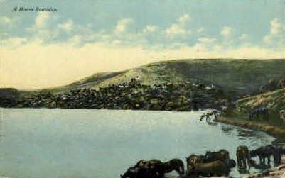 A Horse Roundup - Misc, Montana MT Postcard