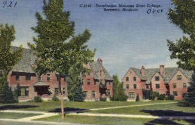 Dormitories, Montana State College - Bozeman Postcard