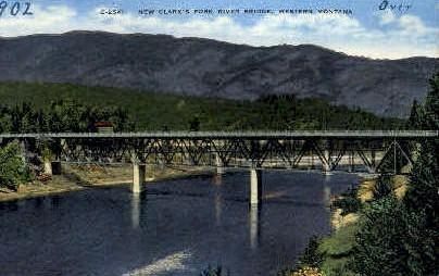 New Clark's Fork River Bridge - Missoula, Montana MT Postcard