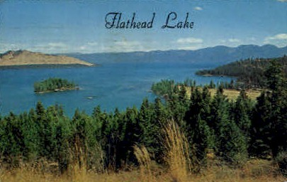 Flathead Lake, Kalispell - Missoula, Montana MT Postcard
