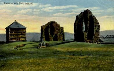 Ruins of Old Fort Benton - Misc, Montana MT Postcard