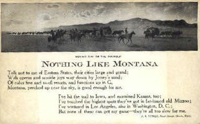 Moving Day on the Roundup - Misc, Montana MT Postcard
