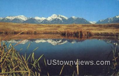 10,000 Ft Peaks, Mission Range - Montana MT Postcard