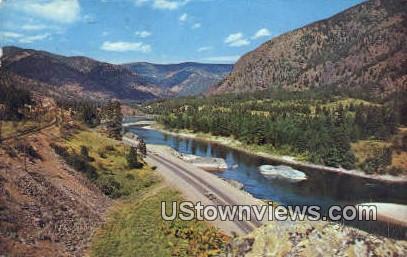 Clark Fork Valley Scene - Alberton, Montana MT Postcard