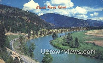 Clark Fork River - Missoula, Montana MT Postcard