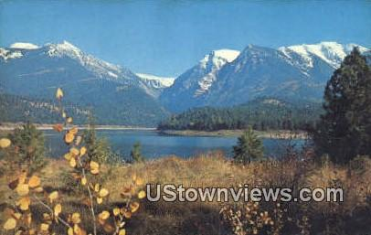 Mission Lake, Ft Mission Range - Missoula, Montana MT Postcard
