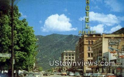 Broadway - Missoula, Montana MT Postcard