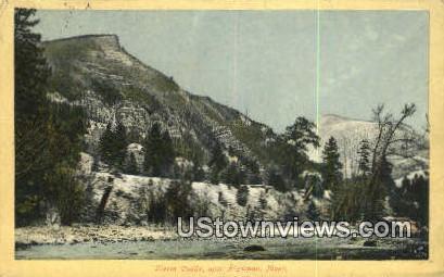 Storm Castle - Bozeman, Montana MT Postcard