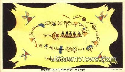 Custers Last Stand - Misc, Montana MT Postcard