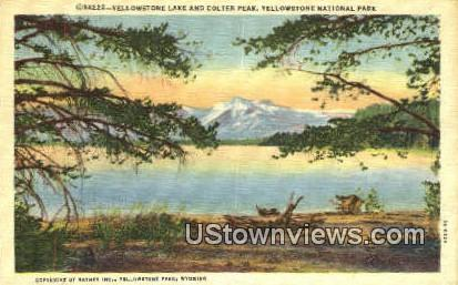 Yellowstone Lake, Colter Park - Yellowstone National Park, Montana MT Postcard