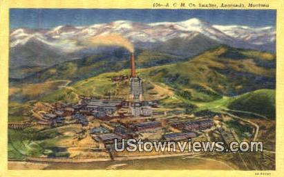 ACM Co Smelter - Anaconda, Montana MT Postcard