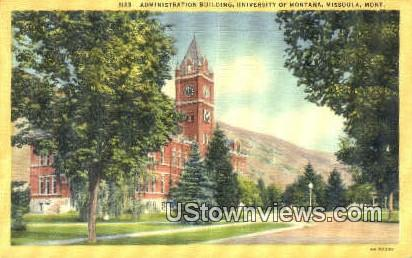 Admin Bldg, University of Montana - Missoula Postcard