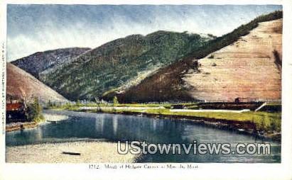 Mouth Of Hellgate Canyon - Missoula, Montana MT Postcard