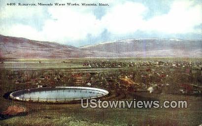 Reservoir, Missoula Water Works - Montana MT Postcard