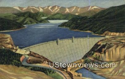 Mighty Hungry Horse Dam - Misc, Montana MT Postcard
