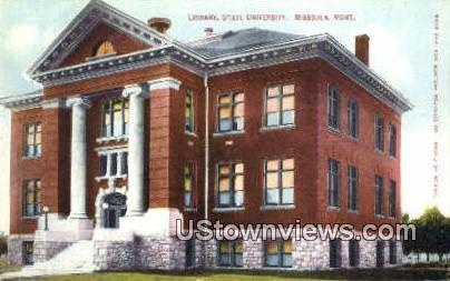 Library, State University - Missoula, Montana MT Postcard
