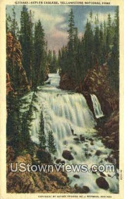 Kepler Cascade - Yellowstone National Park, Montana MT Postcard