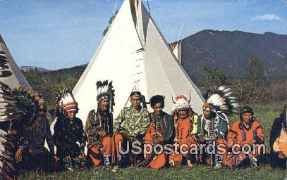 Authentic Montana Indian Chiefs - Misc Postcard
