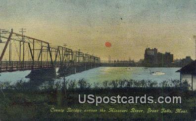 County Bridge - Great Falls, Montana MT Postcard