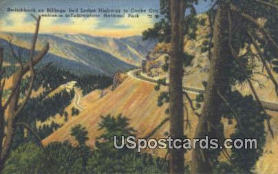 Switchback on Billings - Yellowstone National Park, Montana MT Postcard